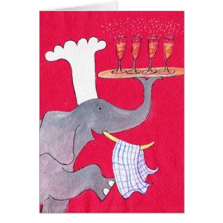 Cozinheiro chefe mestre cartão comemorativo