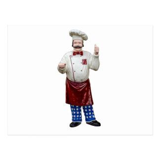 Cozinheiro chefe modelo plástico cartão postal