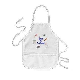 Cozinheiro chefe no treinamento avental infantil