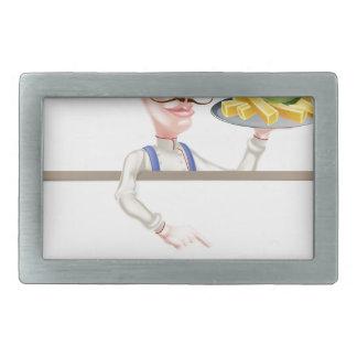 Cozinheiro chefe que guardara o peixe com batatas
