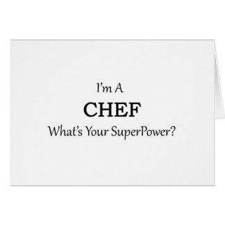 Cozinheiro chefe super cartão comemorativo