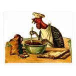 Cozinheiro de Turquia Cartoes Postais