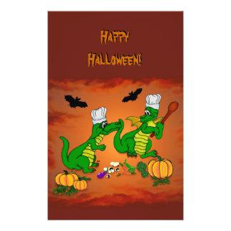Cozinheiro do dragão do Dia das Bruxas, hoje eu Panfleto Coloridos