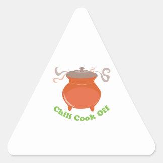 Cozinheiro do pimentão fora adesivo triângulo