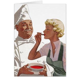 Cozinheiro retro do vintage fora do cartão de nota