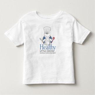 Cozinheiro saudável - deixe-nos mover a campanha t-shirts