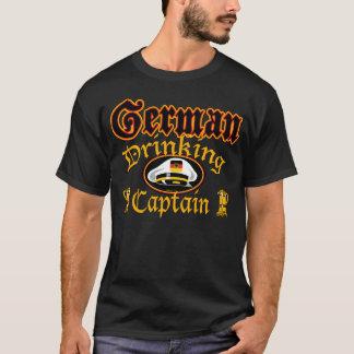 Cptn bebendo alemão camiseta