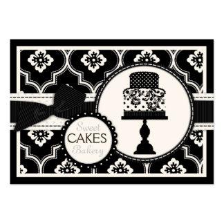 CR doce do preto do cartão de visita do bolo