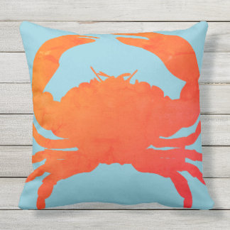 Crab_Nautical-Paprika & Mar-Vidro Blue_Lg Almofada