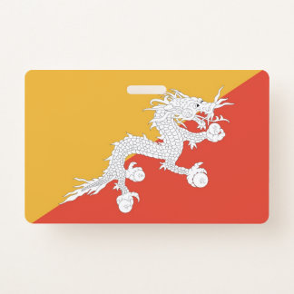 Crachá conhecido com a bandeira de Bhutan