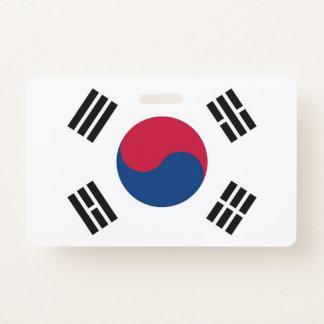 Crachá conhecido com a bandeira de Coreia do Sul