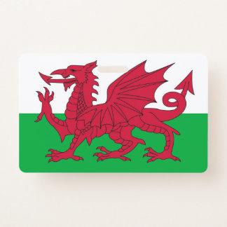 Crachá conhecido com a bandeira de Wales, Reino
