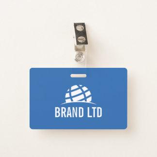 Crachá Criar seu próprio logotipo da empresa de negócio