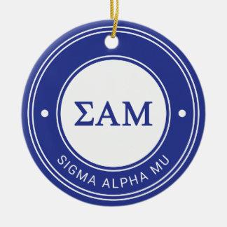 Crachá da MU   do alfa do Sigma Ornamento De Cerâmica