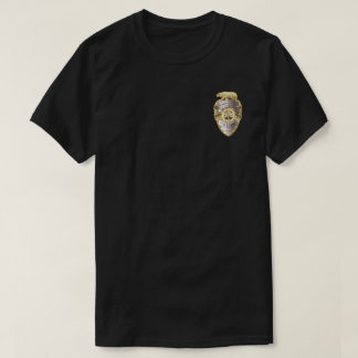 Crachá da polícia t-shirts