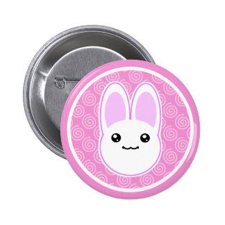 Crachá do botão do coelho de coelho de Kawaii Bóton Redondo 5.08cm