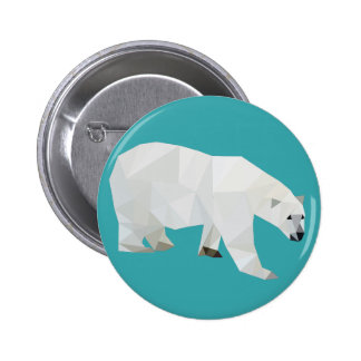 Crachá do botão do urso polar bóton redondo 5.08cm