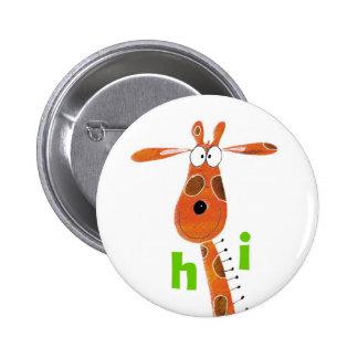 Crachá do girafa do divertimento botons