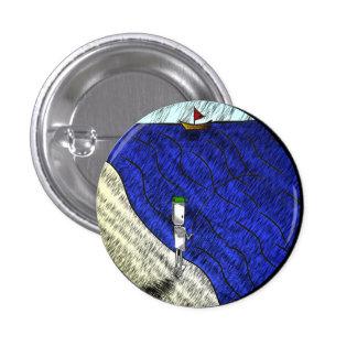 Crachá do pescador bóton redondo 2.54cm
