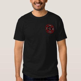 Crachá do sapador-bombeiro tshirts