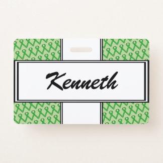 Crachá Fita padrão verde por Kenneth Yoncich