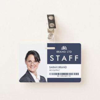 Crachá Funcionarios da identificação com foto do negócio
