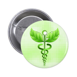 Crachá médico da medicina alternativa do símbolo bóton redondo 5.08cm