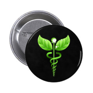 Crachá médico do símbolo do Caduceus da medicina Bóton Redondo 5.08cm