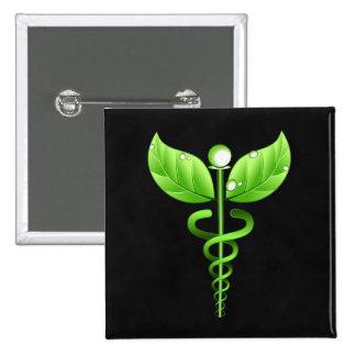 Crachá médico do símbolo do Caduceus da medicina