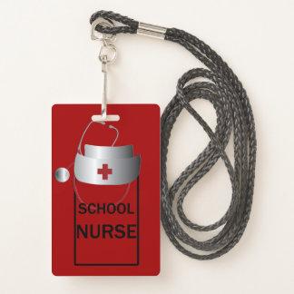 Crachá Passagem de salão da sala da enfermeira da escola