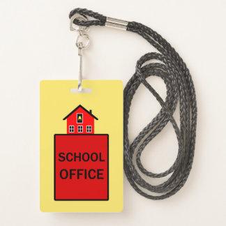 Crachá Passagem de salão da secretaria da escola