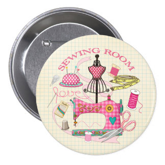 Crachá Sewing Bóton Redondo 7.62cm