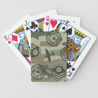Crachás militares baralhos para pôquer