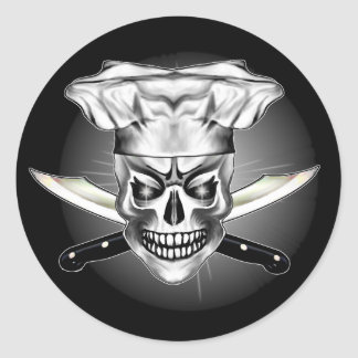 Crânio 3,1 do cozinheiro chefe adesivo