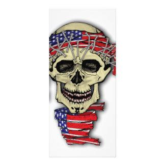 Crânio americano 10.16 x 22.86cm panfleto