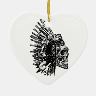 Crânio, armas e ornamento tribais das facas