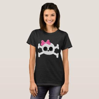 Crânio bonito de Emo com fita Camiseta