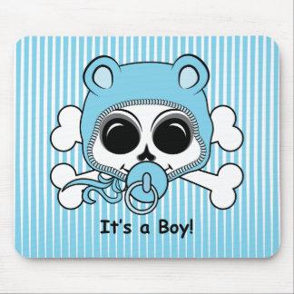 Crânio bonito do bebé mousepads