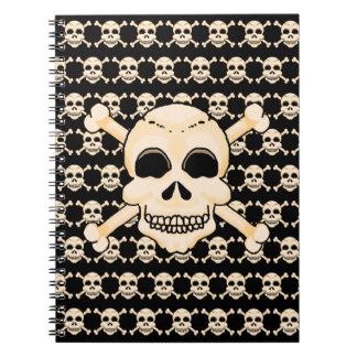 Crânio & caderno espiral dos Crossbones