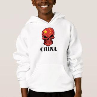 Crânio chinês China da bandeira