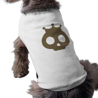 Crânio com a camisa do animal de estimação do Dia  Camisas Para Caes