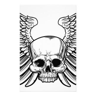 Crânio com asas papelaria