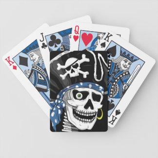 Crânio com um só olho do pirata carta de baralho