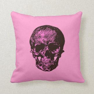 Crânio cor-de-rosa almofada