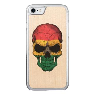 Crânio da bandeira de Ghana Capa iPhone 8/ 7 Carved