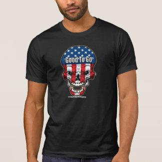 Crânio da bandeira dos EUA Camisetas