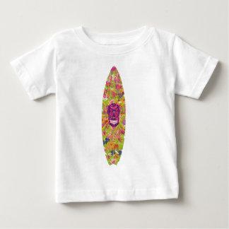 Crânio da flor da prancha camiseta para bebê