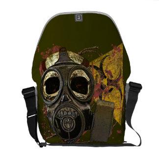 crânio da máscara de gás do Bio-perigo Bolsa Mensageiro