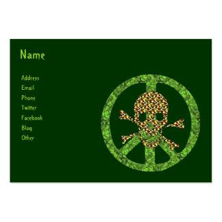 Crânio da paz cartão de visita