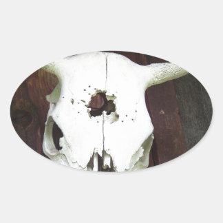 Crânio da vaca adesivo oval
